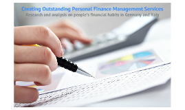 Creating Outstanding Personal Finance Management Services
