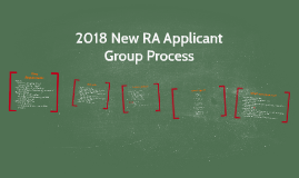 2018 New Applicant Group Process Presentation