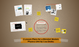 3 Lesson Plan in Modern Physics for a Blended Classroom by L