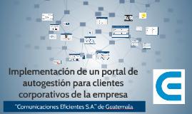 Implementación de un portal de autogestión para clientes cor