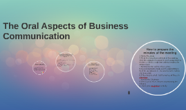 Copy of Copy of The Oral Aspects of Business Communication