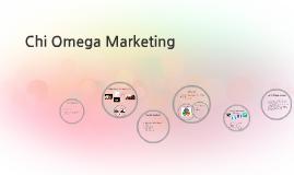 Chi Omega Marketing