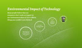 Environmental Impact of Technology