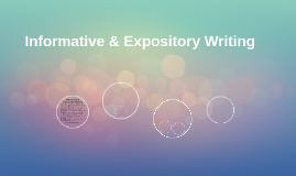 Informative & Expository Writing