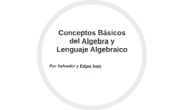 Conceptos Basicos del Algebra