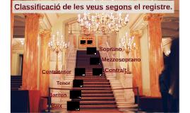 Classificació de les veus, segons el registre.