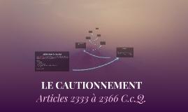 Copy of LE CAUTIONNEMENT