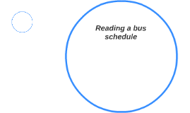 Reading a bus schedule