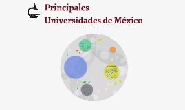 Copy of Principales Universidades de México