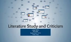 Literature Study and Critisism