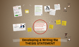 6th Grade - Writing the thesis statement