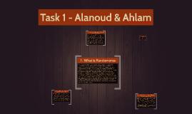 Task 1 - Alanoud & Ahlam