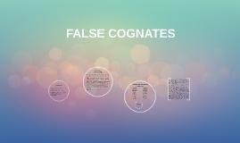 FALSE COGNATES
