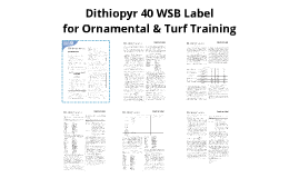 Dithiopry 40 WSB Label