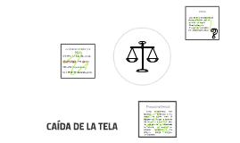 CAÍDA DE LA TELA