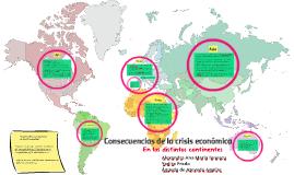 Consecuencias de la crisis económica