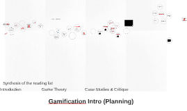Gamification Intro (Planning)