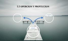 2.2 OPERCION Y PROYECCION