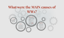 What were the MAIN causes of WW1?