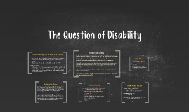 The Question of Disability
