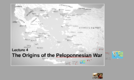The Origins of the Peloponnesian War