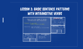 Lesson 3: Basic Sentence Patterns with Intransitive Verbs (203)