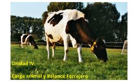 Unidad IV. Carga animal y Balance Forrajero