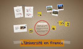 L'Université en France