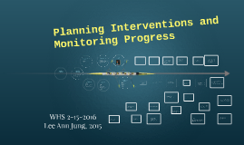 Planning Interventions and Monitoring Progress
