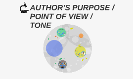 Copy of AUTHOR'S PURPOSE /  POINT OF VIEW / TONE