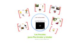 Copy of Vocales para pre kinder y kinder