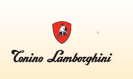 Tonino Lamborghini Company Profile