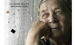 Le suicide chez les personnes agées
