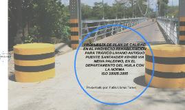 PROPUESTA DE PLAN DE CALIDAD EN EL PROYECTO REHABILITACIÓN P