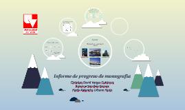 Informe de progreso de monografía; ACERO. Clase de introducción a la Ingeniería Química. Univalle 2014.