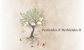Pesticides Herbicides II
