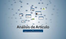 Analisis de Articulo