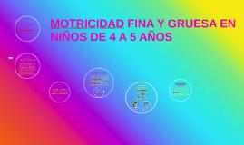 Copy of MOTRICIDAD FINA Y GRUESA EN NIÑOS DE 4 A 5 AÑOS
