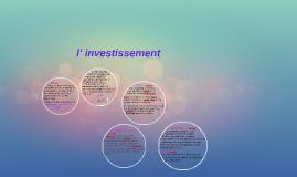 l' investissement