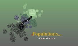 Populations...