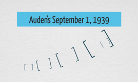 Auden's September 1, 1939