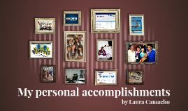 My personal accomplishments