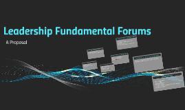 Leadership Fundamental Forums