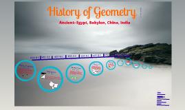 History of Geometry Timeline