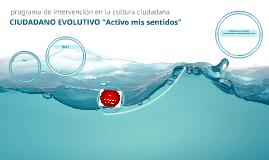 """CIUDADANO EVOLUTIVO """"Activo mis sentidos"""""""