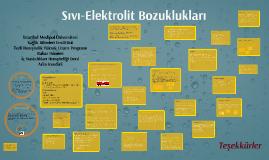 Sıvı-Elektrolit Bozuklukları