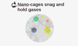 Nano-cages snag and hold gases