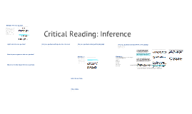 Critical Reading: Inference (Take II)