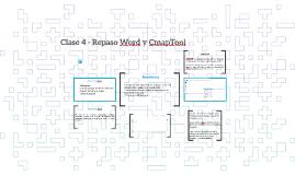 Clase 4 - Repaso Word y CmapTool