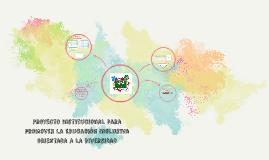 Proyecto Institucional para promover la Educación Inclusiva